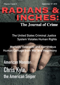 Radians & Inches crime journal frontpage